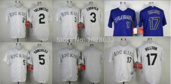 2016 New Top Quality Authentic Colorado Rockies Jersey #2 Troy Tulowitzki #3 Michael Cuddyer #5 Carlos Gonzalez Jersey Cool Base Jersey