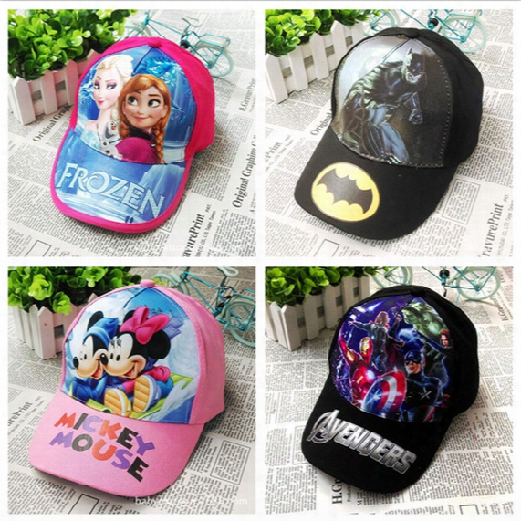 2016 Summer Frozen Baseball Cap Kids Cartpon Caps Hats Toy Hats Children Sofia Cotton Baseball Cap Free Shipping