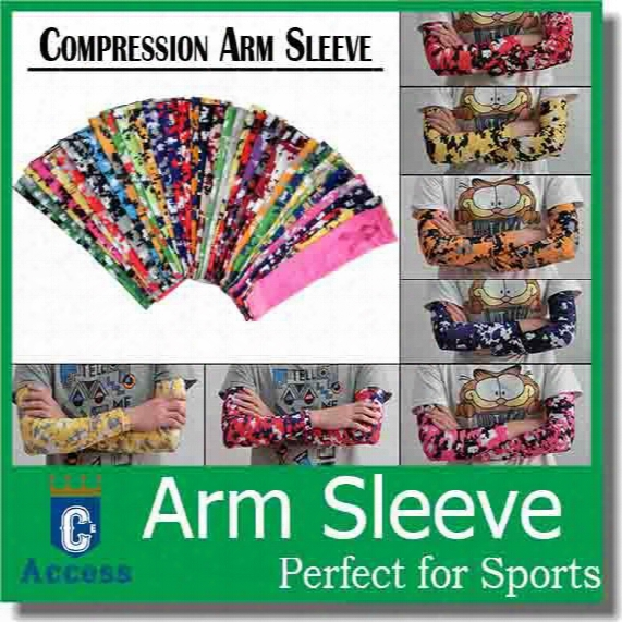 2016 United Kingdom Arm Sleeves Camo Sports Arm Sleeve For Softball, Baseball Compression Arm Sleeve 128 Color