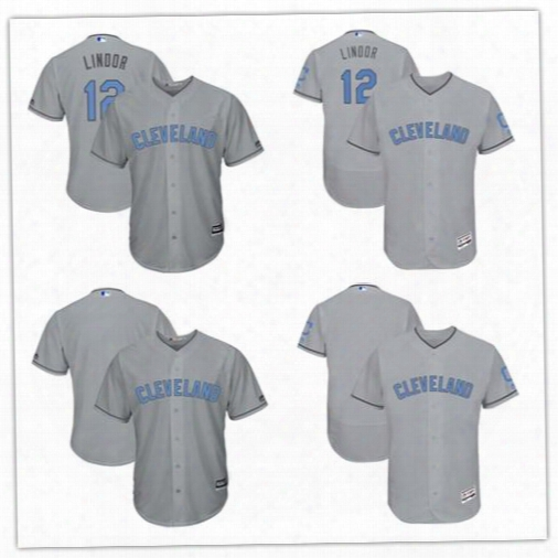 2017 Custom Men Women New Cleveland Indians Majestic Father's Day Flex Base Cool Base Team Jerseys Can Customed Any Name Any Number