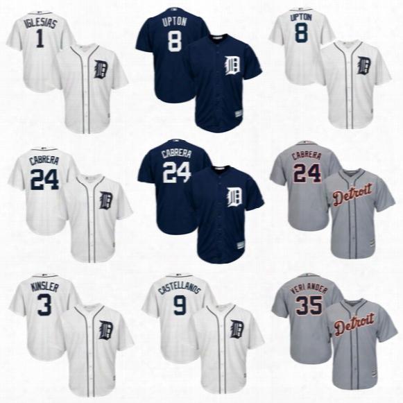 2017 Detroit Tigers 1 Jose Iglesias 3 Ian Kinsler 8 Justin Upton 24 Miguel Cabrera 28 Jd Martinez 35 Justin Verlander Baseball Jerseys