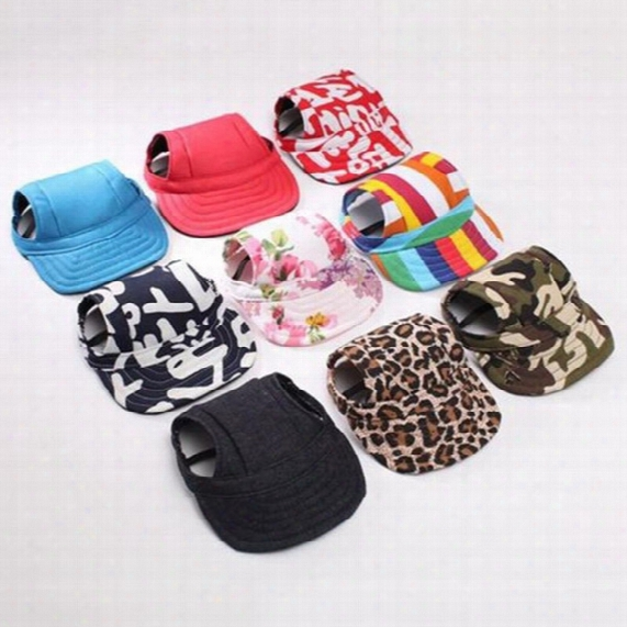 2017 Fashion Pet Dog Baseball Hat Canvas Cap Small Dog Outdoor Accessories Summer Pet Cap Dog Baseball Cap