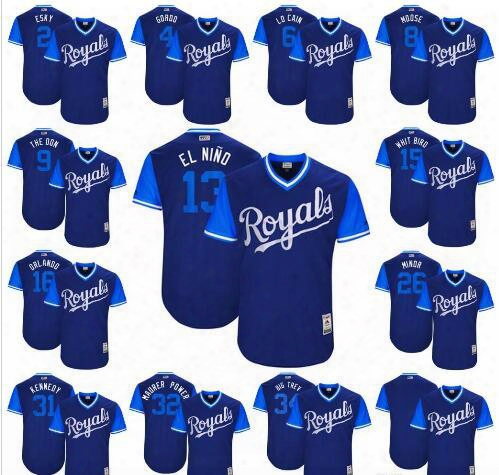 2017 Little League World Series Players Weekend 2 Alcides Escobar Gordon Lorenzo Cain Moustakas Salvador Perez Kansas City Royals Jersey