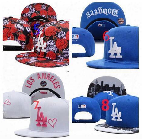 2017 Los Angeles Dodgers Snapback Hip Hop Mlb Snapback Baseball Caps Women Men Hats Mixed Wholesale 8 Colors Beanies