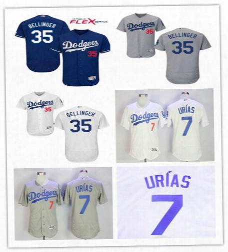 2017 Men's Los Angeles Dodgers 35 Cody Bellinger #7 Julio Urias Ffelxbase Jerseys Color White Grey Free Shipping