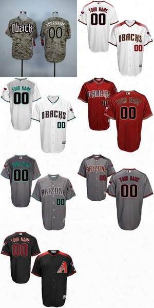 2017 Men's Los. Dbacks Arizona Diamondbacks Customized Adult Any Name And Number White Grey Red Black Coolbase Flexbase Baseball Jerseys
