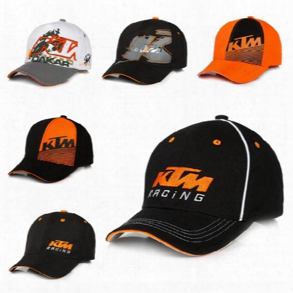 2017 Moto Gp Letters Ktm Racing Baseball Caps Motocross Riding Sports Hats For Mens Snapback Caps Hip Hop Sun Hats 6colors