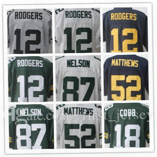 2017 New Aaron Rodgers 12 Jordy Nelson 87 Jersey Men's Clay Matthews 52 Randall Cobb18 Elite Gridiron Gray Football Jerseys
