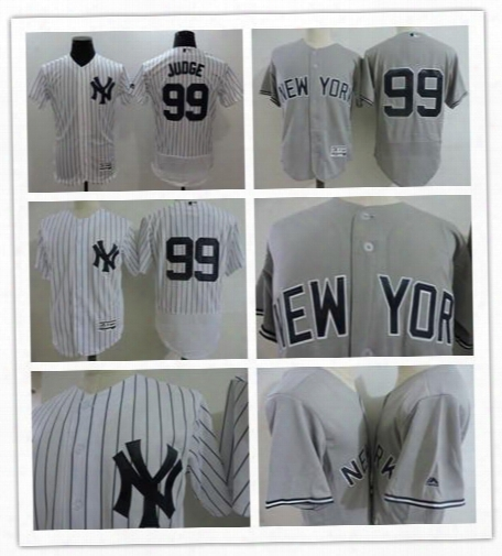 2017 New Cheap Mens Home White New York Yankees #99 Aaron Judge Jerseys Gray Road Stitched Baseball Collection Flex Base Jerseys S-3xl