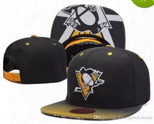 2017 New Dad Hat Cap Pittsburgh Penguins Gradient Style Baseball Snapback Hats Sport Hockey Embroideried Character Logo Casquette Caps Bone