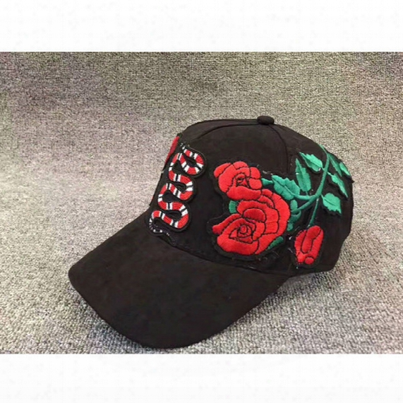 2017 New Style Snakes And Roses Hats Women Men Fqshion Hip Hop Adjustable Caps Baseball Cap
