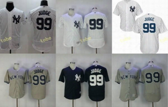 2017 New York Yankee Jersey #99 Aaron Judge Home White Cool Base Jersey Blue Gray Road Stiched Aaron Judge Yankee Flexbase Jerseys