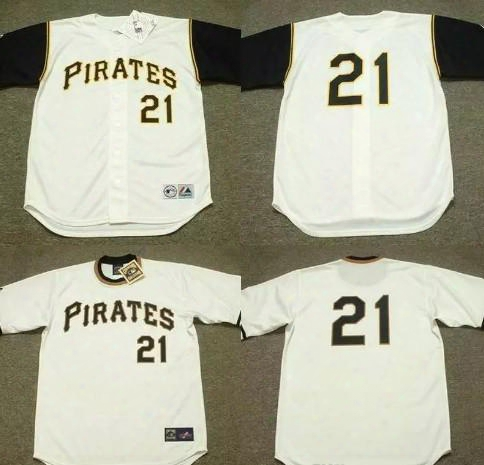 #21 Roberto Clemente Baseball Jersey Cooperstown Vintage Mens Pittsburgh Pirates 1966 1971 Throwback Baseball Jerseys White S-5xl