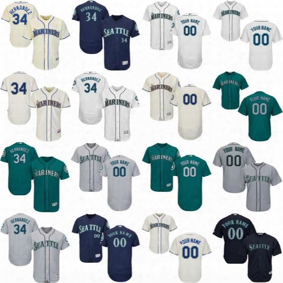 23 Nelson Cruz 34 Felix Hernandez Jean Segura 22 Robinson Cano Ken Griffey Jr. Seattle Mariners Mitch Haniger Kyle Seager 26 Valencia Jersey