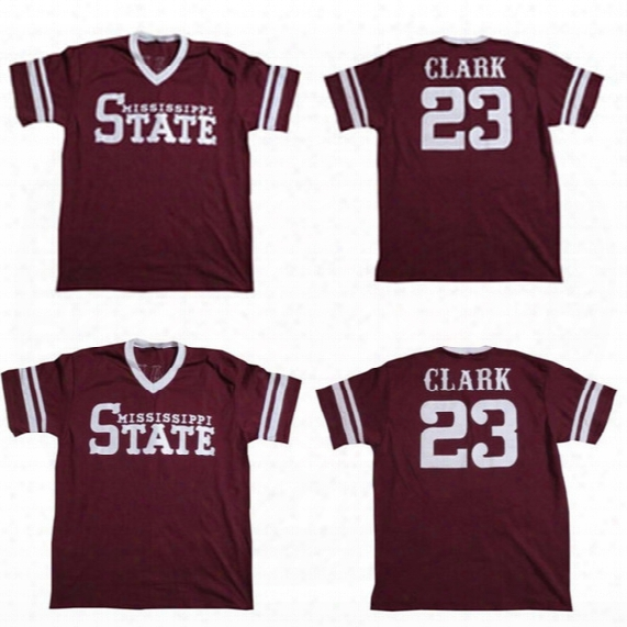 #23 Will Clark Jersey Mississippi State Retro Jersey 100% Stitched Embroidery Logos Throwback Baseball Jerseys Any Name And Number