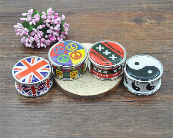 3 Parts Zinc Alloy Metal Tobacco Herb Grinder Crusher Magnetic Hand Muller, Smoking Accessories Smoking Pipe Rolling Machine Lighter