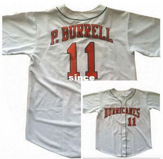 30 Teams- #11 Pat Burrell Jersey, Miami Hurricanes College Baseball Jersey S-3xl Retro/throwback Custom Name Baseball Jerseys Stitched Name