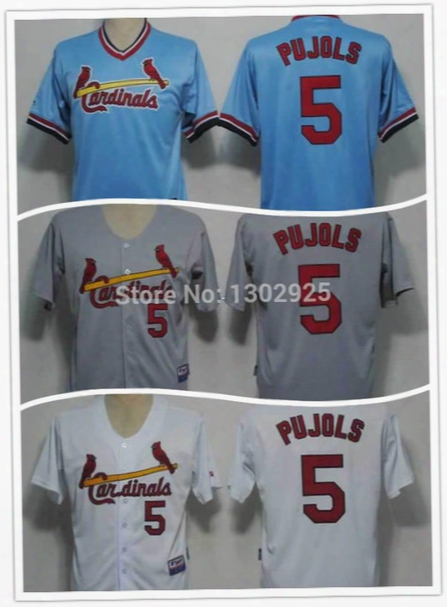 30 Teams- Cheap Stitched St.louis Cardinals #5 Albert Pujols Jerseys New Cool Base Cardinals Baseball Jerseys