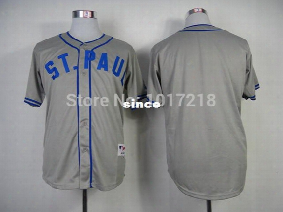 30 Teams- Good Quality Hot Sale Baseball Jersey Minnesota Twins Blank 1948 St. Paul Saints Turn Back The Clock Jersey ,embroidery Logos