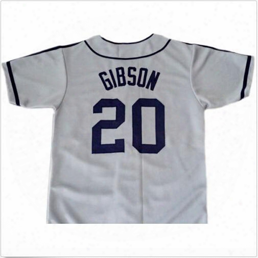 30 Teams- Josh Gibson #20 Homestead Grays Negro Lesgue Button Down Jersey Grey Men's Double Embroidery And Stitched Baseball Jerseys
