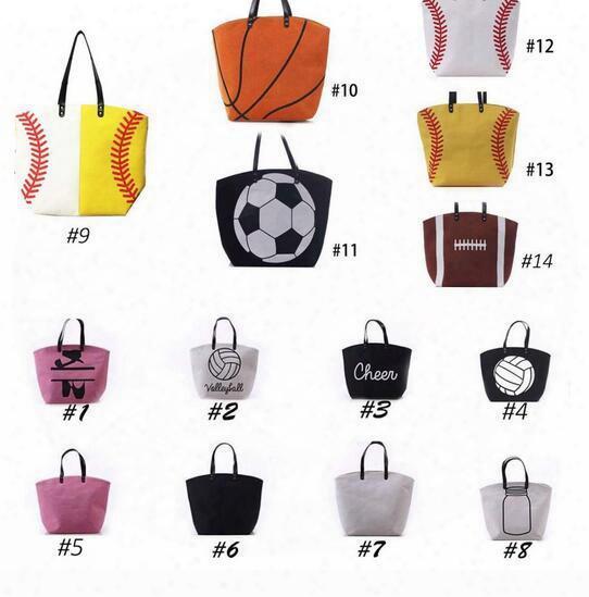 4pcs Usa Black & White &yellow Blanks Cotton Softball Tote Bags Baseball Bag Football Bags Soccer Ball Bag With Hasps Closure Sports Bag