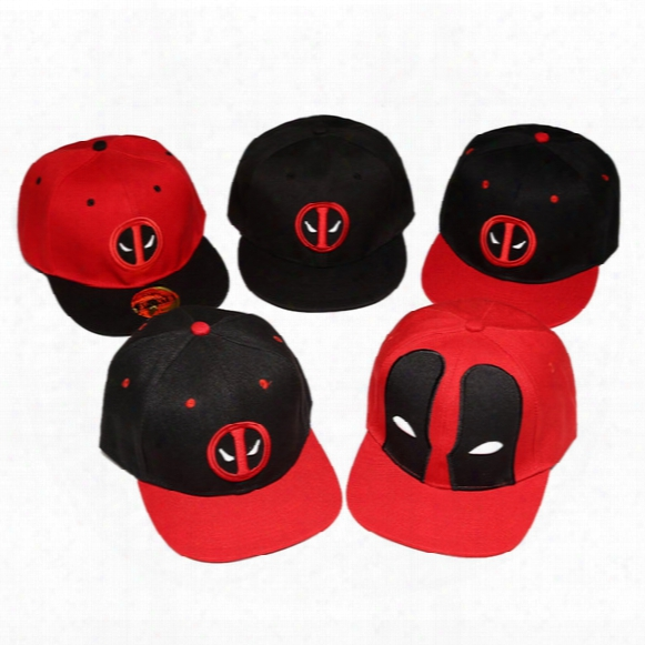 5 Design Superhero Deadpool Snapback Unisex Costumes Cotton Baseball Mmen Women Sports Hip Hop Ball Caps Wholesale Cotton Cap