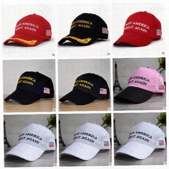 7 Designs Make America Great Again Hat Donald Trump Baseball Hats Republican Adjustable Trucker Snapback Outdoor Sport Caps Cca5554 100pcs