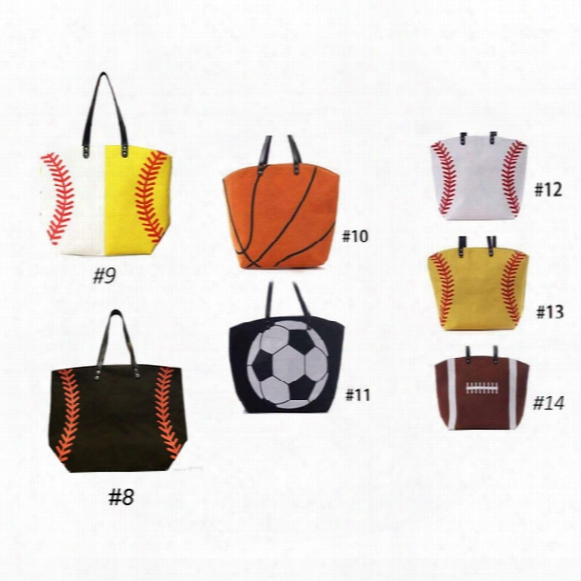 7 Types Softball Baseball Basketball Football Canvas Bags New Fashion Wo Men's Sport Handbag Best Quality With Fast Delivery
