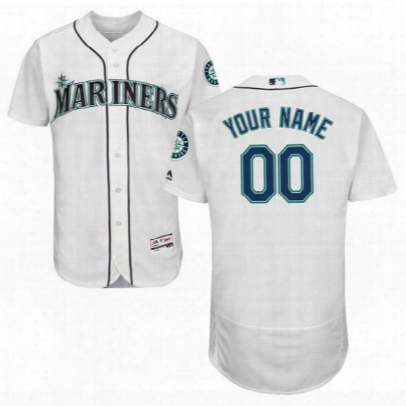 All Teams Mlb Men's Seattle Mariners Jersey New Customized Baseball Jerseys Any Name & Number 100% Stitched Shirt S-5xl