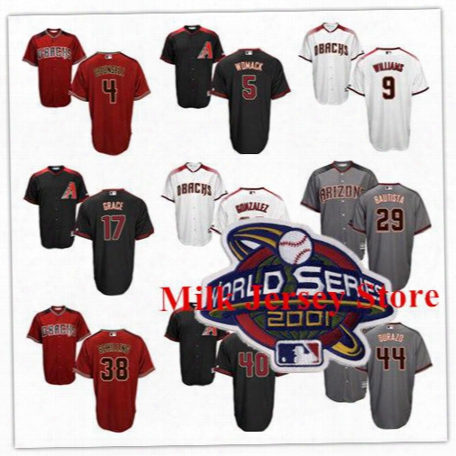 Arizona Diamondbacks Jersey Mark Grace Luis Gonzalez Matt Williams Craig Counsell Danny Bautista Erubiel Durazo Curt Schilling Bobby Witt