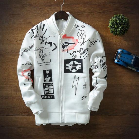 Autumn New Arrival Split Grenadine Space Cotton Baseball Sweater Loves Stand Collar Jacket Baseball Sweater Coat