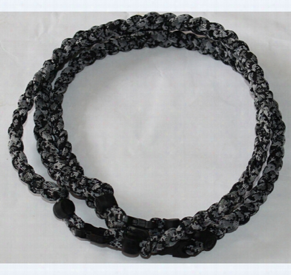 Black Digital Camo Titanium Braided 3 Ropes Necklace Tornado Sports Football Baseball New Tornado Baseball Necklace