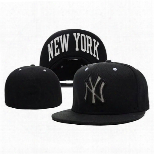 Black Snapbacks Yankees Baseball Hats Fitted Snap Back Caps To Quality Flat Hat Cool Sports Caps Casual Trucker Hat Fashion Outdoor Headwear