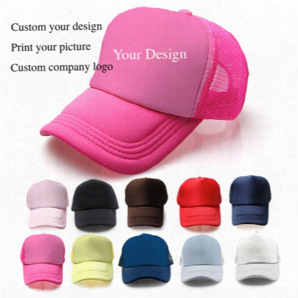 Blank Sponge Net Ball Cap Outdoor Sports Caps Advertising Gift Hats Adult Sun Hat Can Custom Print Embroidery Company Design