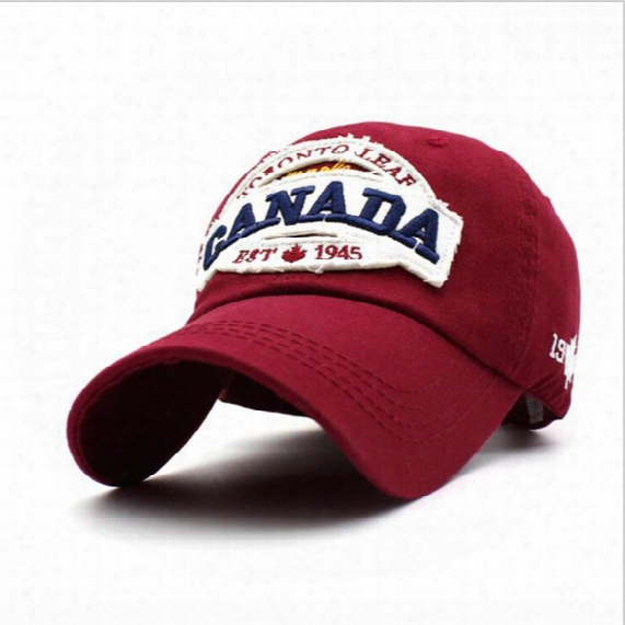 Canada 1945 100% Cotton Embroidered Cap Fashion Women Baseball Hat Baseball Cap Sports Hat Free Shipping