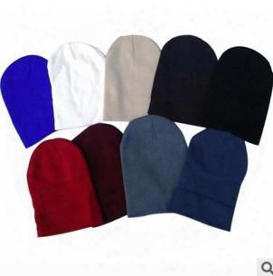 Cheap Hot Selling Plain Blank Beanies Winter Knitted Beanie Baseball Hip Hop Hats Caps Nice Colors Mixed Order Free Shipping
