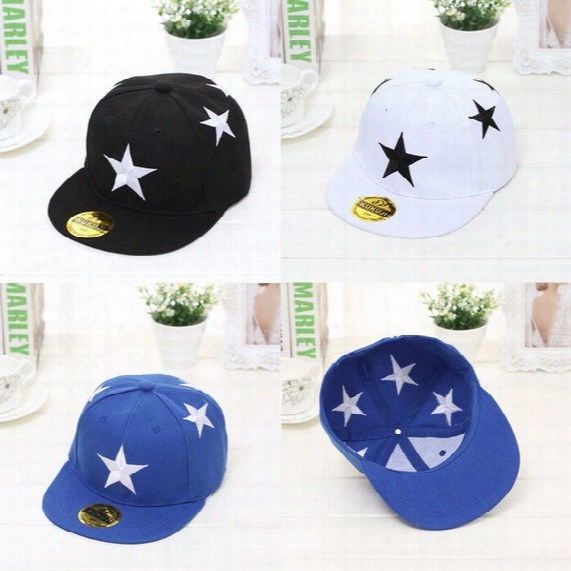 Child Boy Girl Adjustable Embroidery Star Baseball Cap Hip-hop Hat Kids Snapback