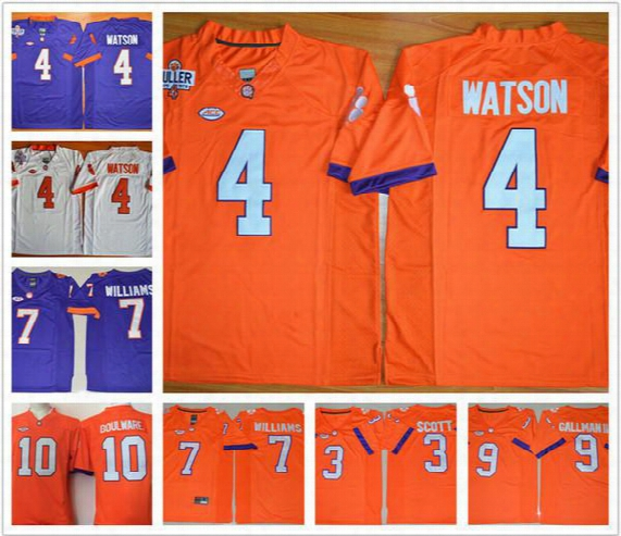 Clemson Tigers Jersey 4 Deshaun Watson #7 Mike Williams 9 Wayne Gallman Ii 3 Artavis Scott Stitched College Jerseys Cheap For Men Youth Kids
