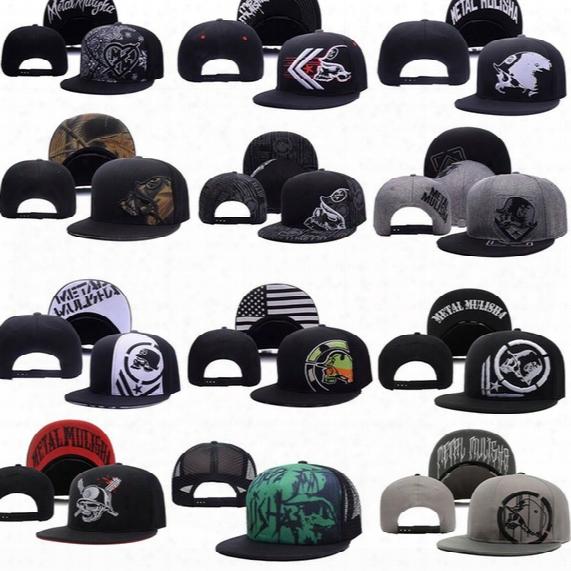 Cool Metal Snapback Hat Snap Back Hat For Men Summer Baseball Cap Mulisha Cheap Fox Hip Hop Hat Adjustable Women Baseball Cap Wholesale