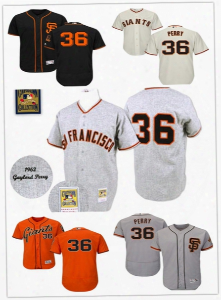 Cooperstown 36 Gaylord Perry Jersey Flexbase Sf San Francisco Giants Baseball Jerseys Vintage Co Ol Base Shirts White Grey Orange Cream Black