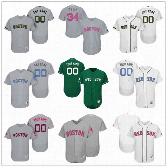 Custom Boston Red Sox Mother Father Memorial Independence Day #41 Sale Betts Price Gray Holt White Pink Green Stitched Men Womenn Kid Jerseys