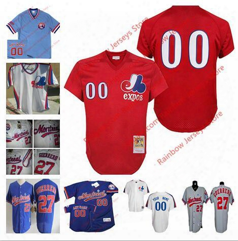 Custom Montreal Expos White Light Navy Blue Pullover Red Mesh Bp Gray 1990 2002 Throwback Vintage Baseball Jersey 12 Tom Brady Men Women Kid