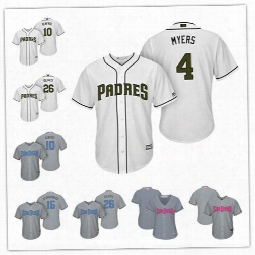 Custom San Diego Padres White Gray 2017 Father Mother Memorial Day Sewn On Any Name Number Mens Womens Youth Baseball Jerseys S-4xl