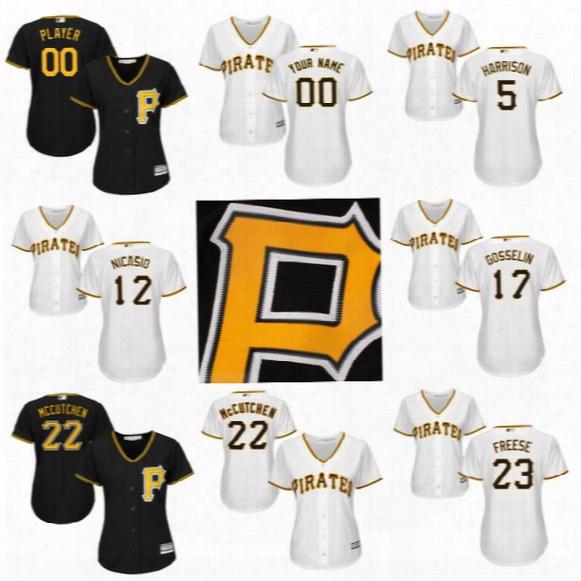 Custom Womens Pittsburgh Pirates 2017 Baseball Jerseys 5 Josh Harrison 6 Starling Marte 10 Jordy Mercer 12 Juan Nicasio 16 Ho Jung Kang