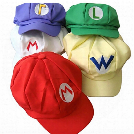 Dhl 2017 New Adult Cartoon Super Mario Hats Cosplay Fashion Costume Baseball Hats Caps Sneaker Hip Hop Berets Hat Gd-h01