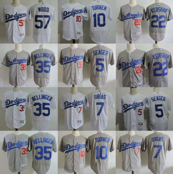 Dodgers Jersey 22 Clayton Kershaw 57 Alex Wood 35 Cody Bellinger 5 Corey Seager 10 Justin Turner Julio Urias Mike Piazza Baseball Jersey