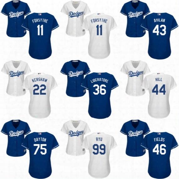 Dodgers Jerseys Womens 2017 New Season 9 Yasmani Grandal 18 Kenta Maeda 54 Sergio Romo 74  Kenley Jansen 99 Hyun-jin Ryu Baseball Jerseys