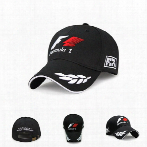 F1 Formula One Racing Team Embroidered Hat Letter Outdoor Sports Men And Women Baesball Cap Hat Black Casquette Bone