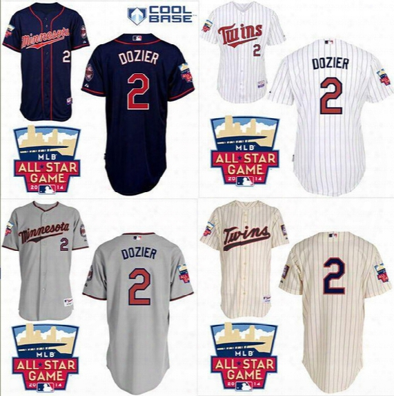 Factory Outlet Authentic Minnesota Twins 2 Brian Dozier Jersey Cheap Stittched White/gray/blue/beige Baseball Jerseys Embroidery Logos