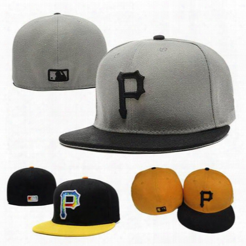 Fashion Pittsburgh Fitted Snapback Caps Full Closure Pirates Hats Men Women Flat-brim Summer Snap Back Baseball Cap Adjustable Hat